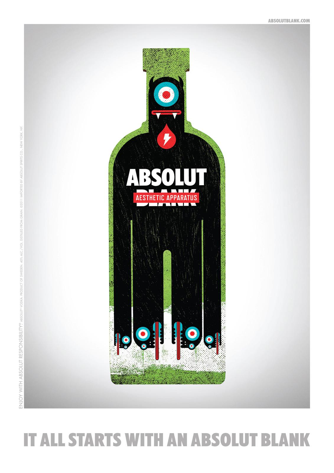 Absolut Print Ad -  Blank, Aesthetic