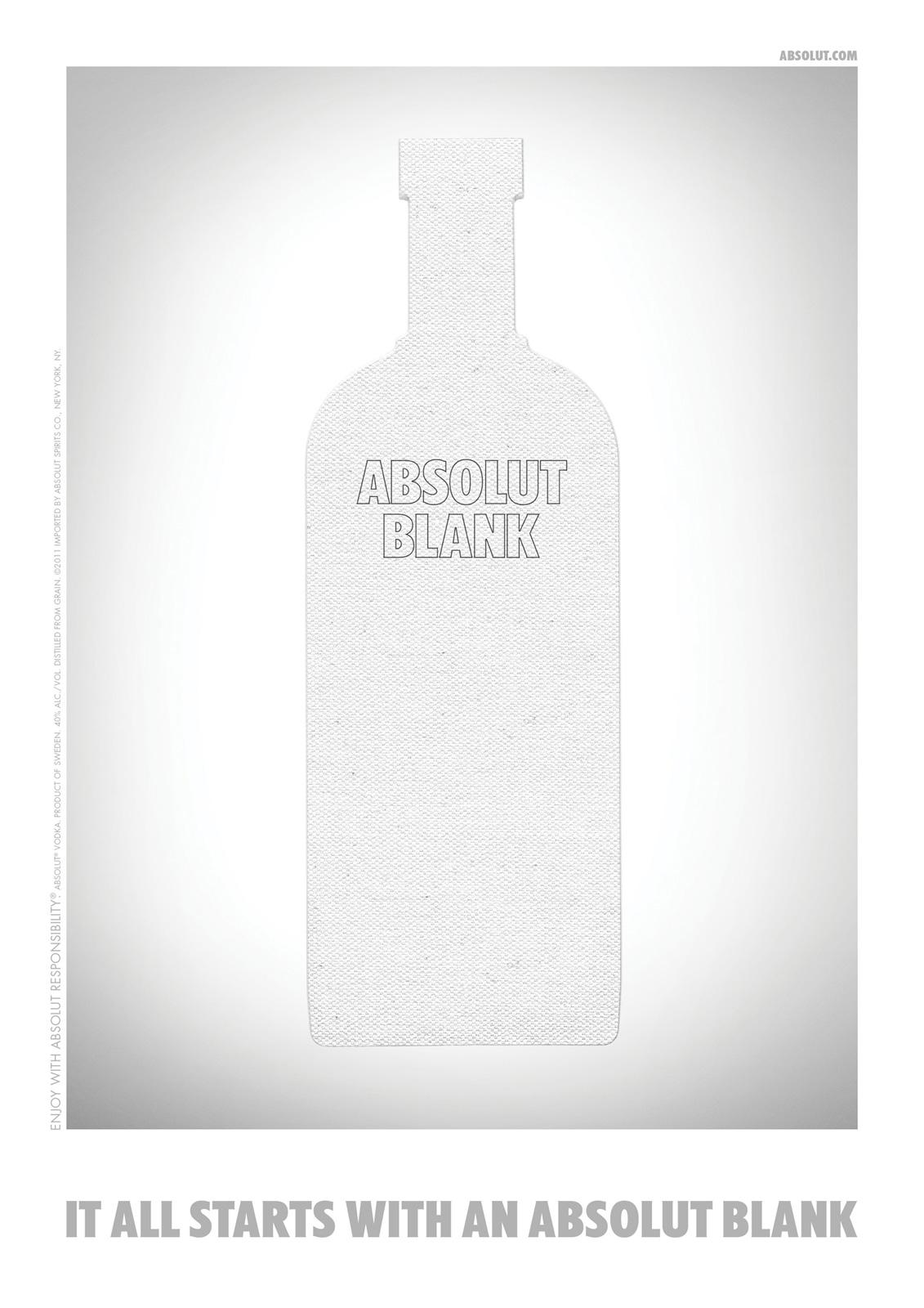 Absolut Print Ad -  Blank, Wood