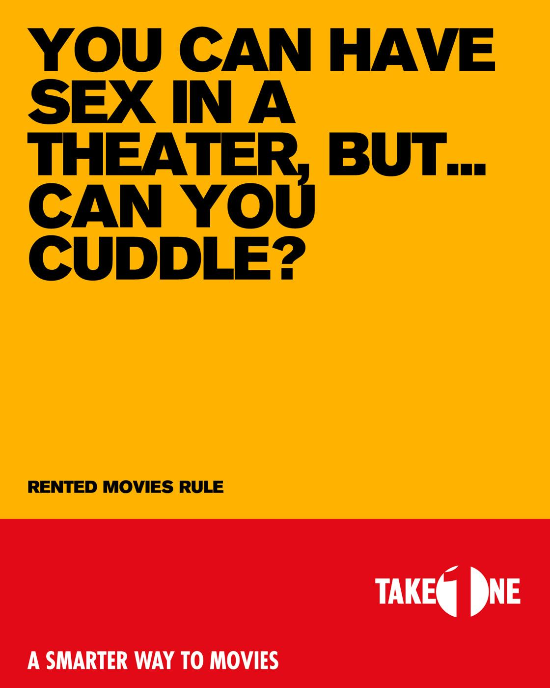 Take One Print Ad -  Cuddle
