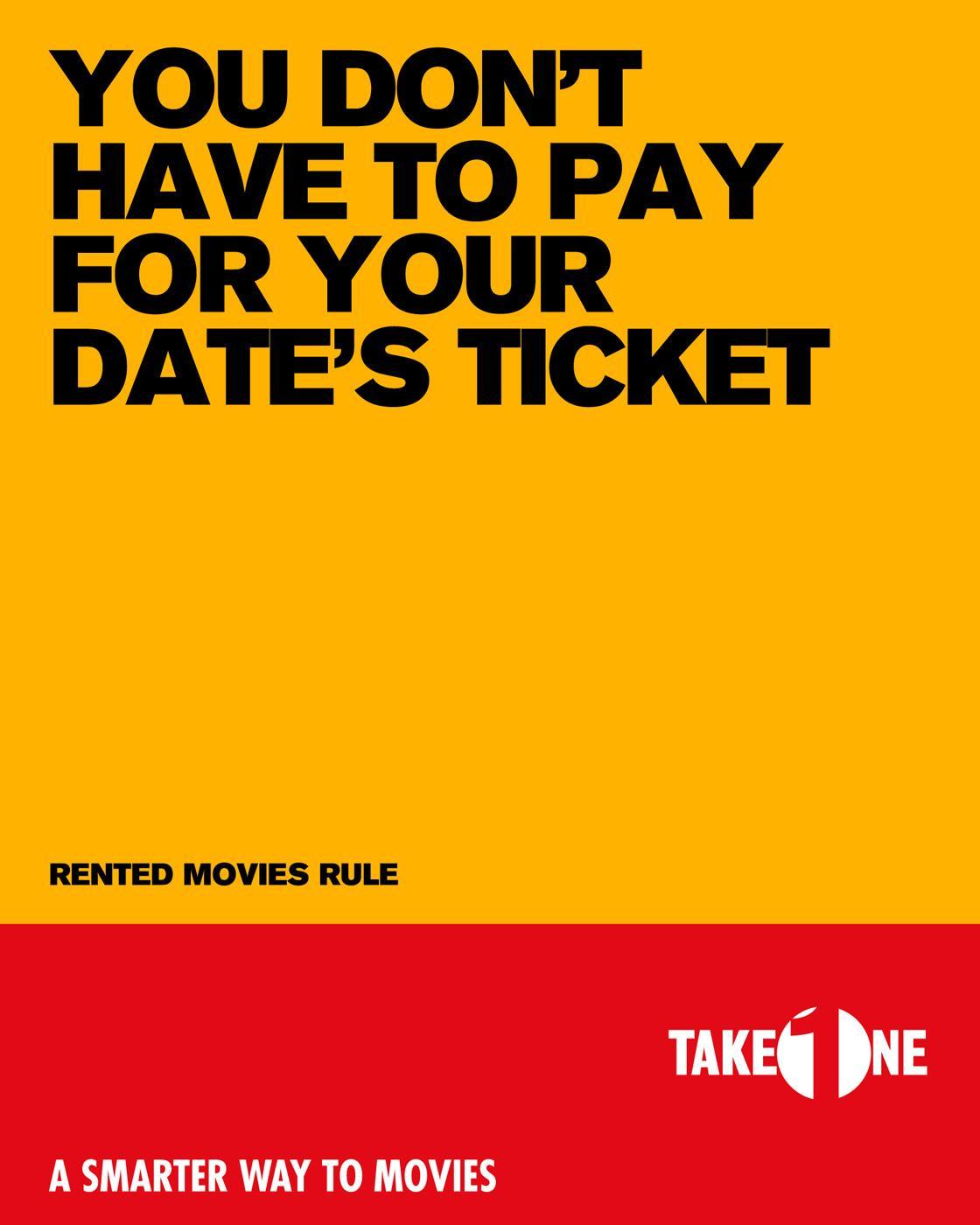 Take One Print Ad -  Date