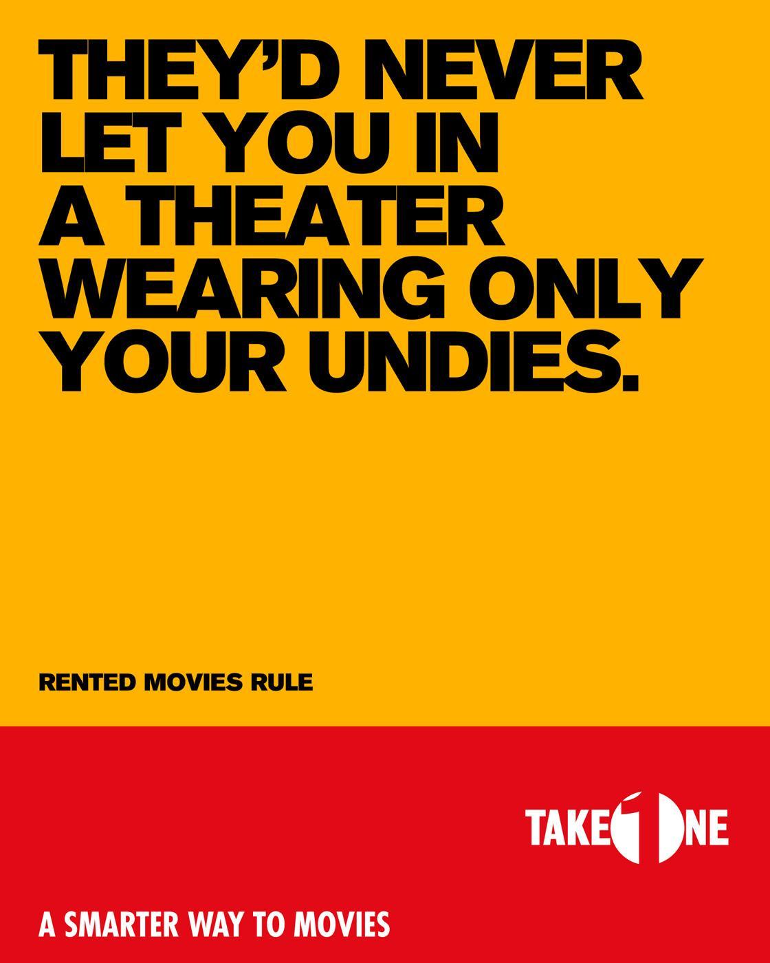 Take One Print Ad -  Undies