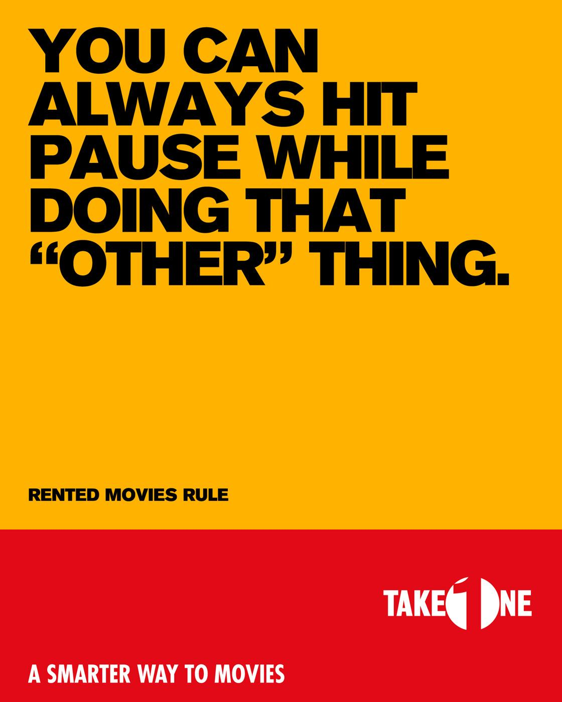 Take One Print Ad -  Pause