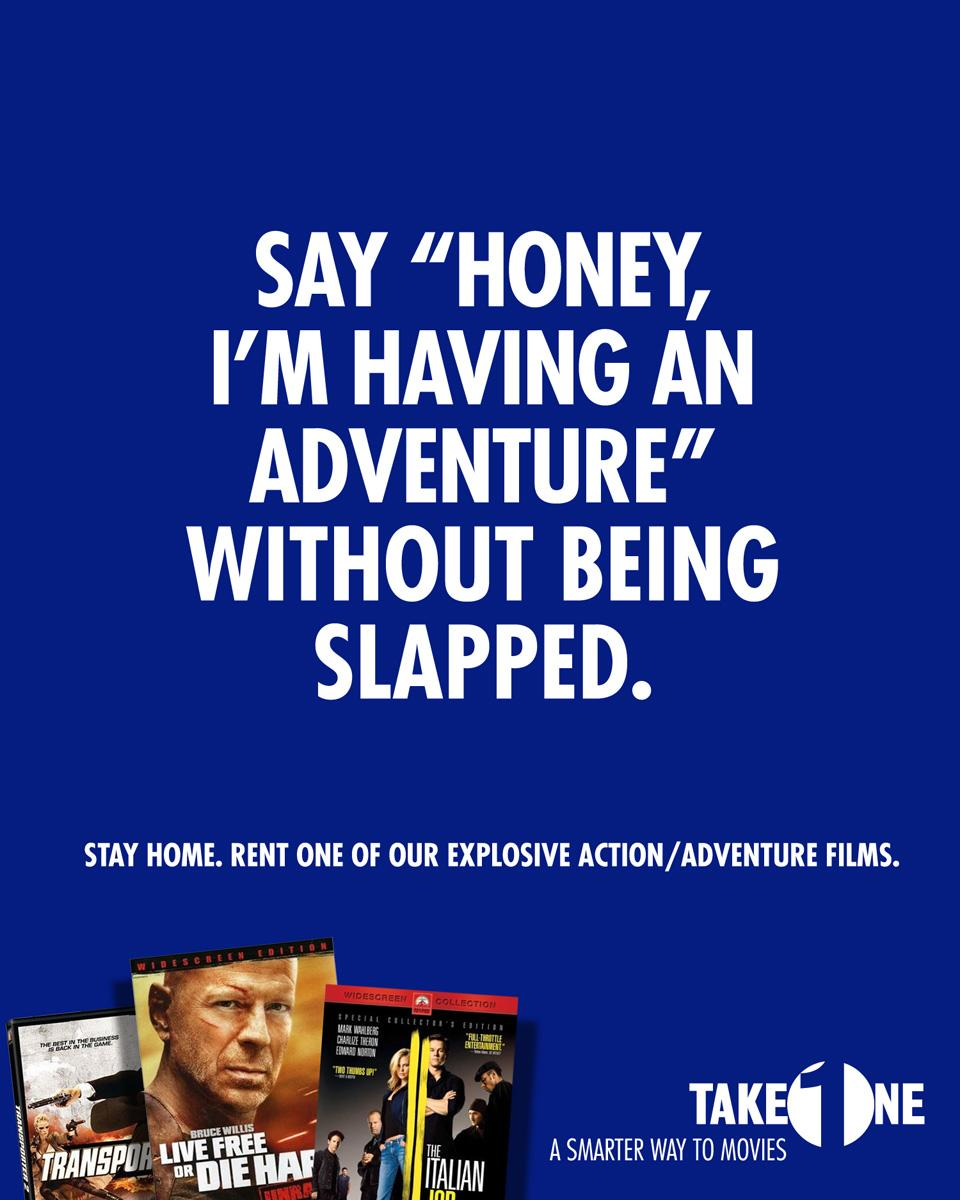 Take One Print Ad -  Adventure