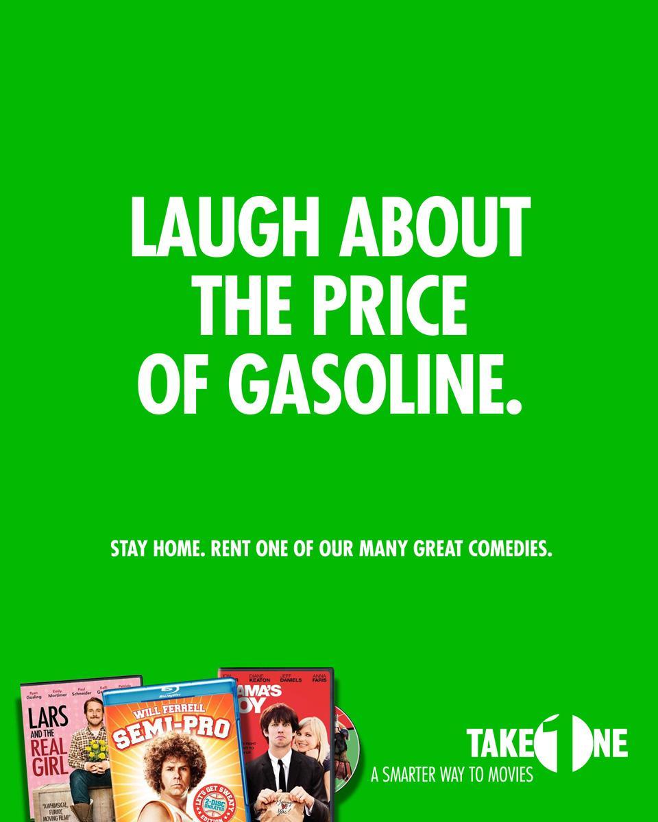 Take One Print Ad -  Gasoline
