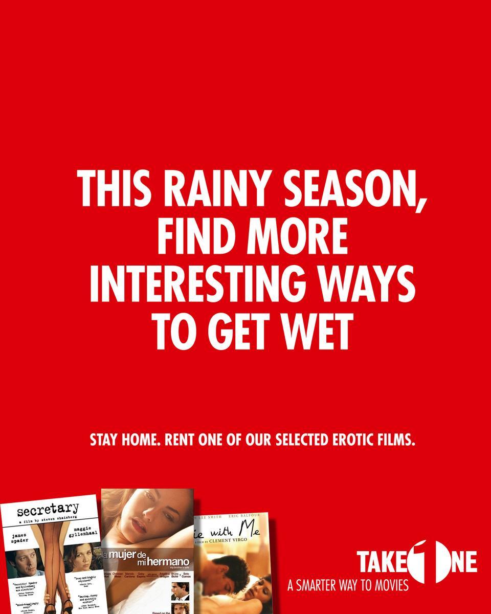 Take One Print Ad -  Rainy season