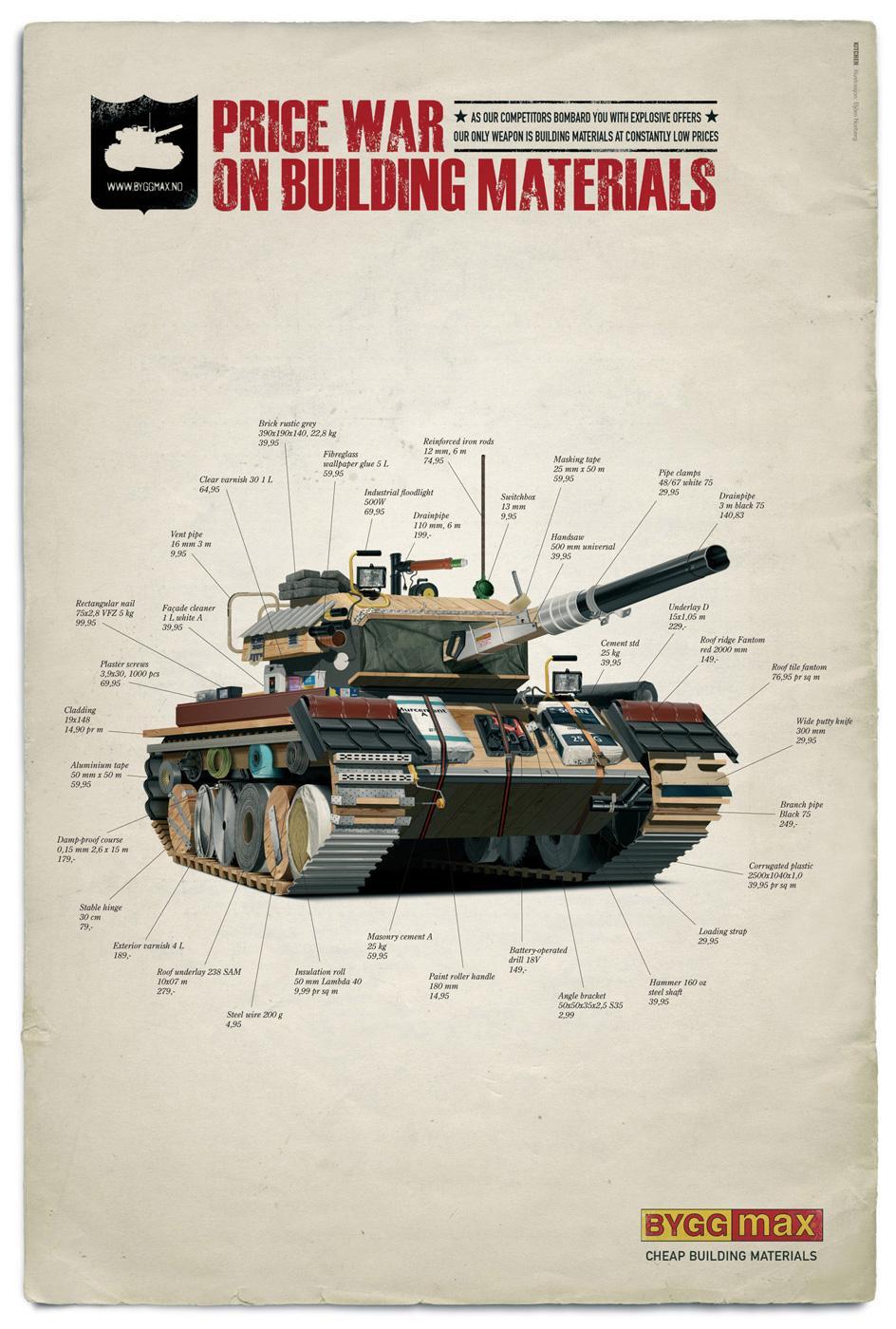 Byggmax Print Ad -  Price war, Tank
