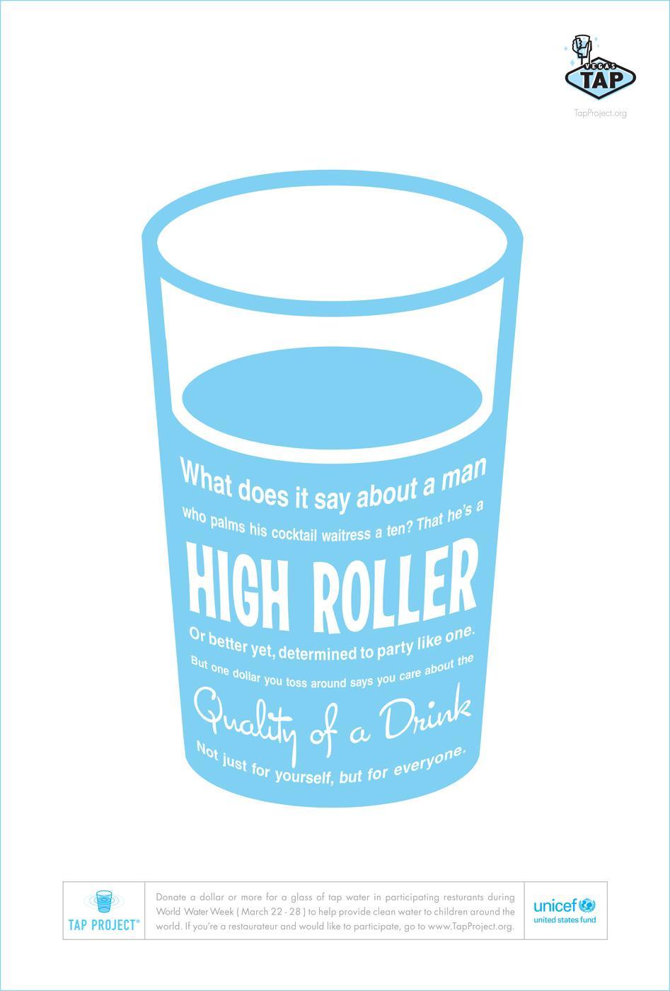Unicef Print Ad -  High roller