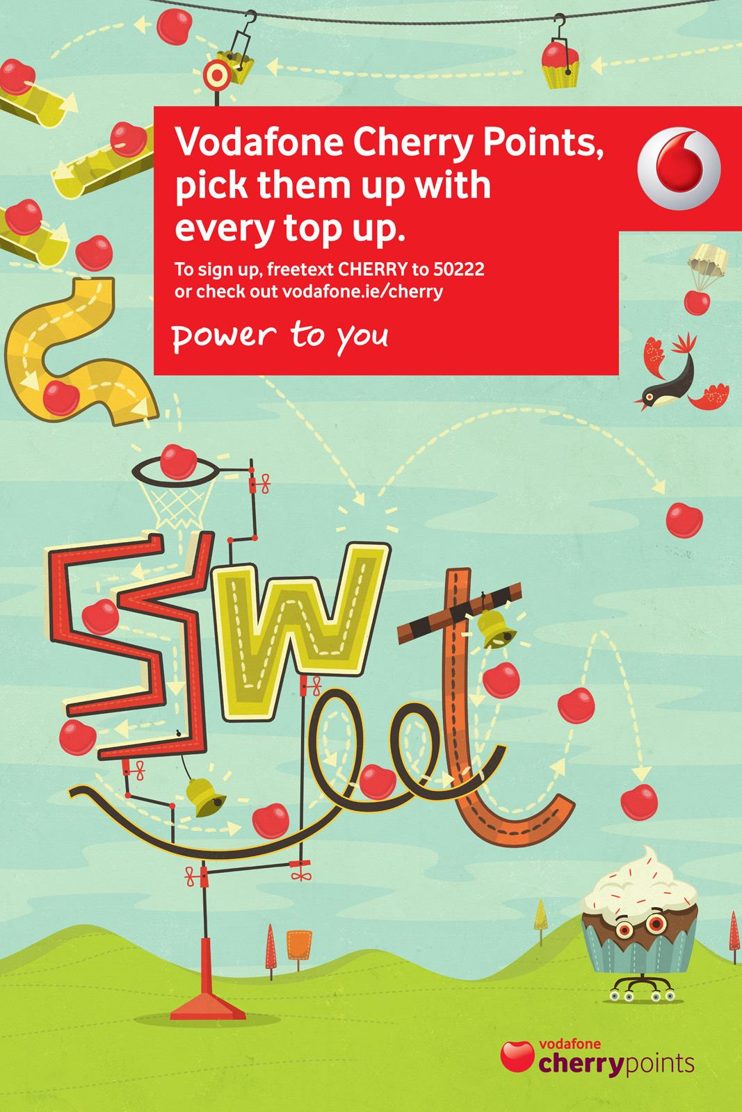 Vodafone Print Ad -  Cherry Points, Mousetrap