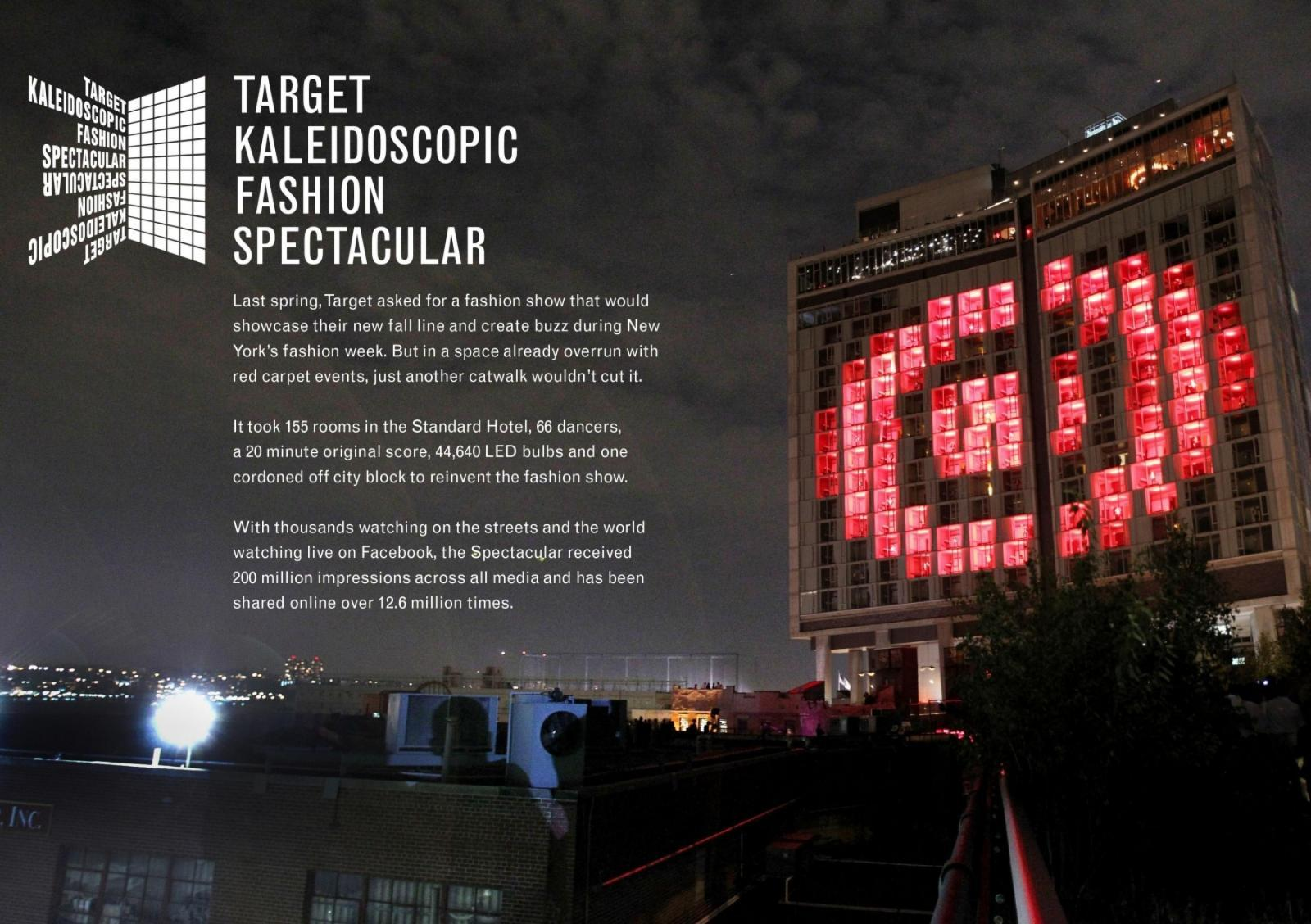 Target Outdoor Ad -  Kaleidoscopic Fashion Spectacular