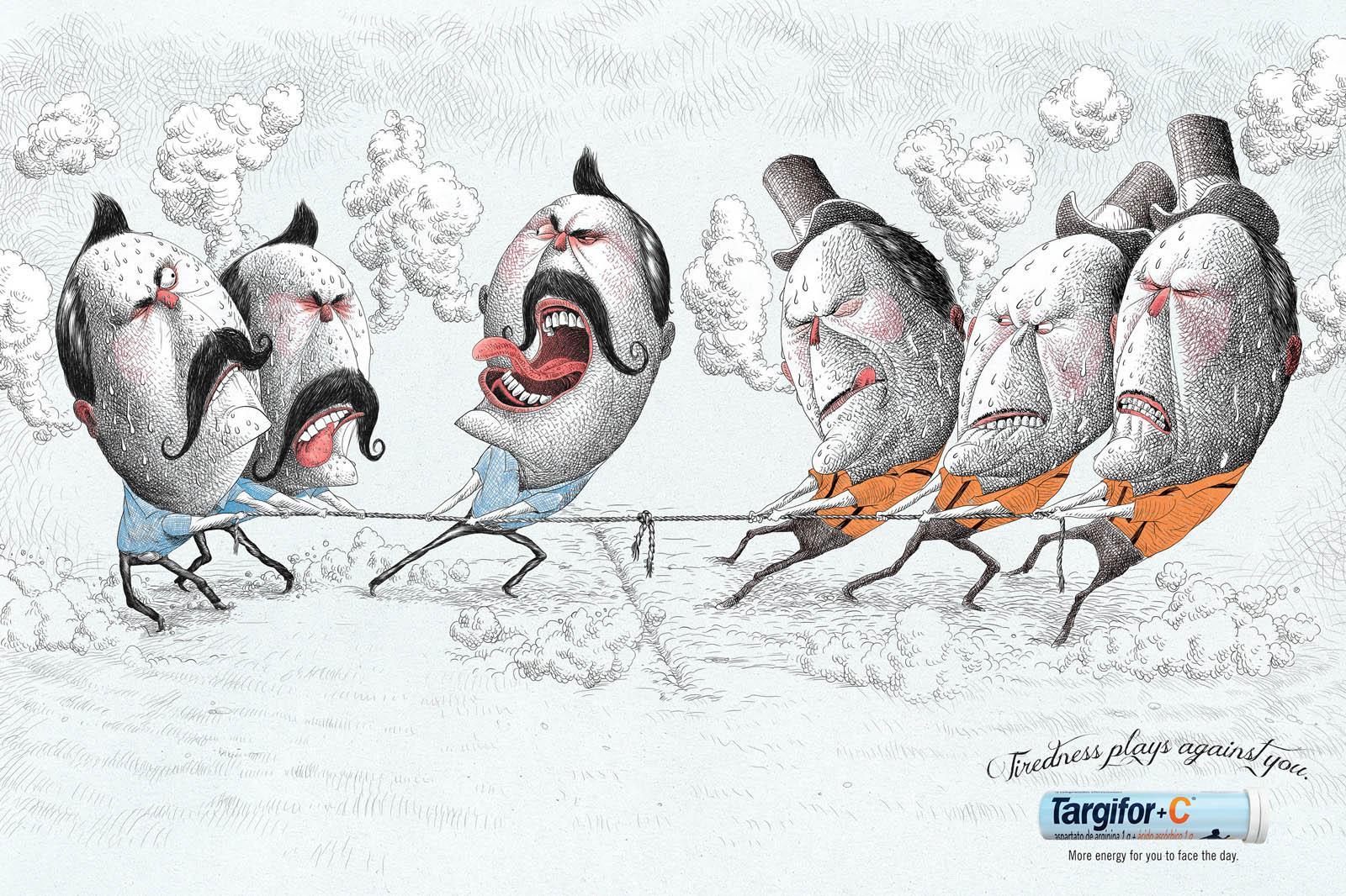 Targifor Print Ad -  Tug of War