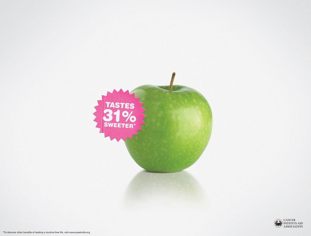 Anti-smoking, Apple