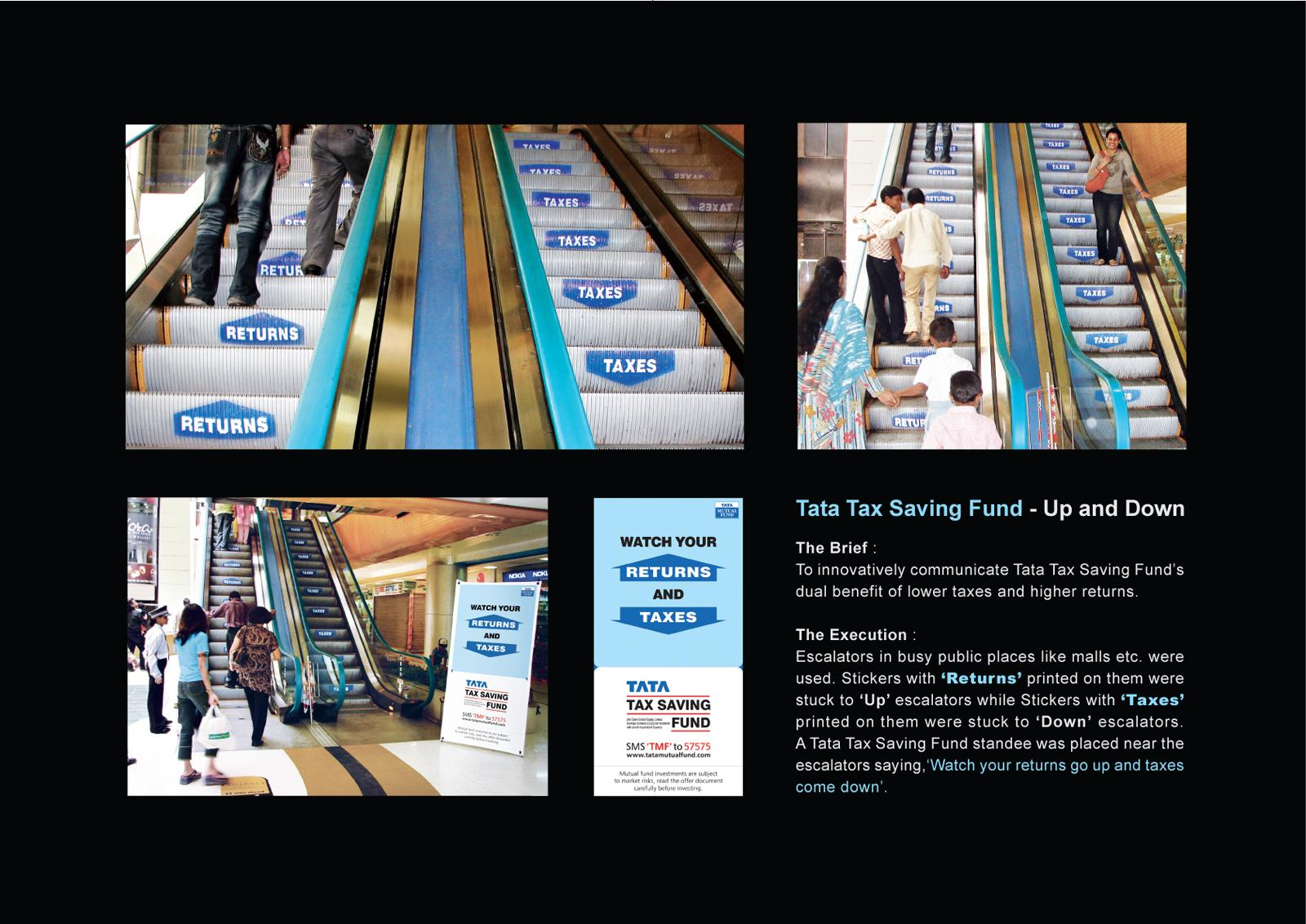 Tata Ambient Ad -  Watch your returns and taxes