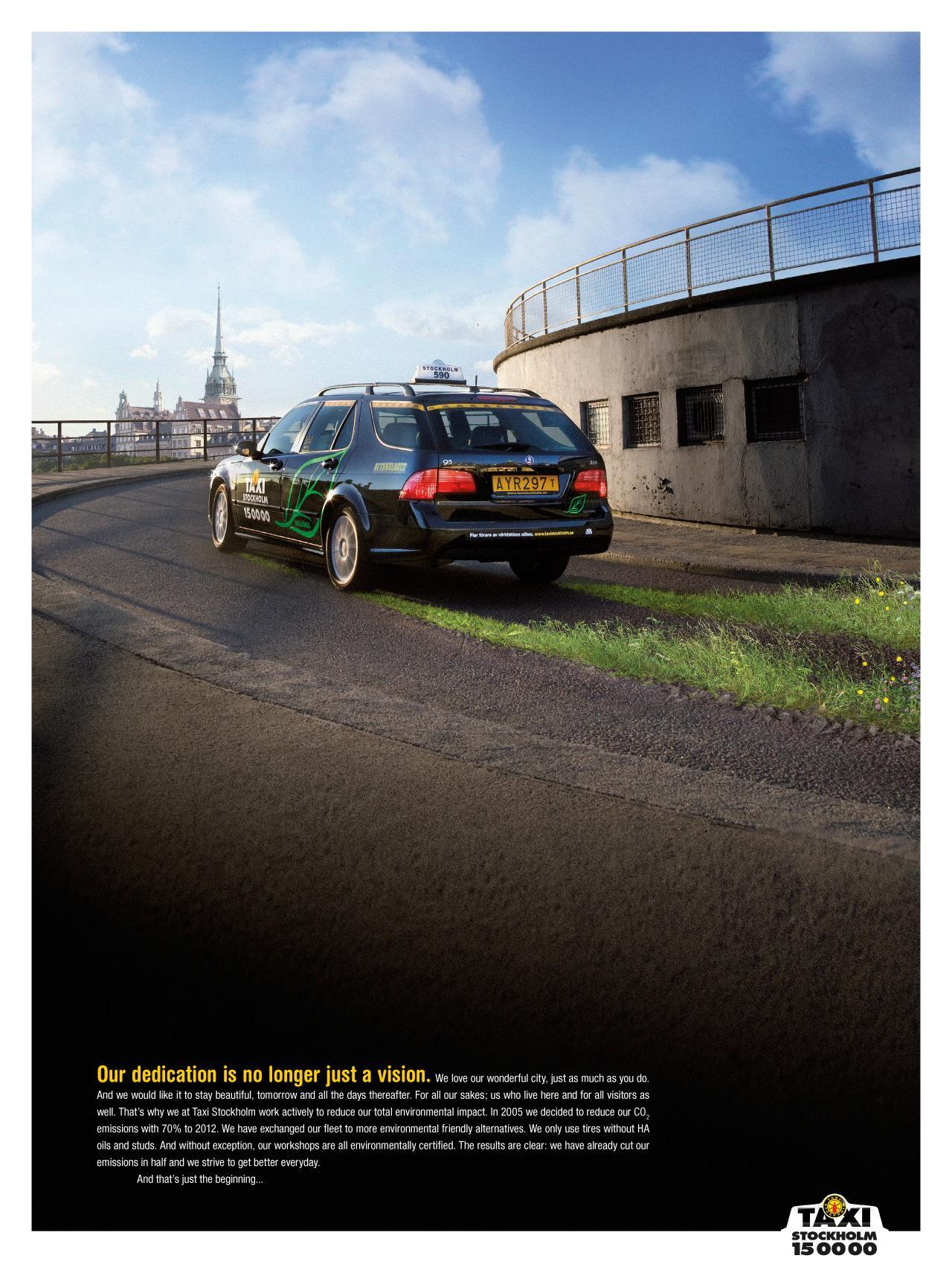 Taxi Stockholm Print Ad -  Road