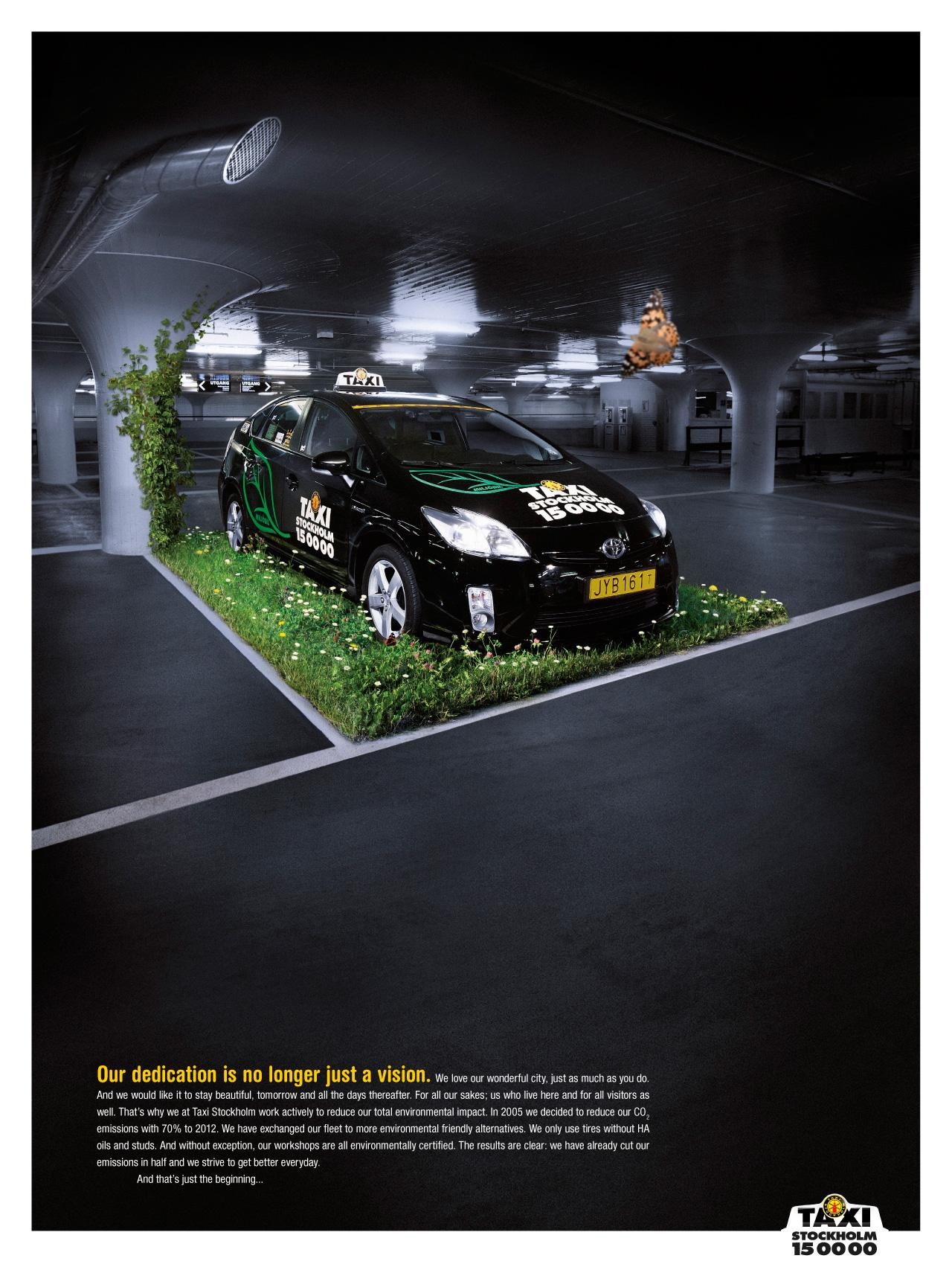 Taxi Stockholm Print Ad -  Parking
