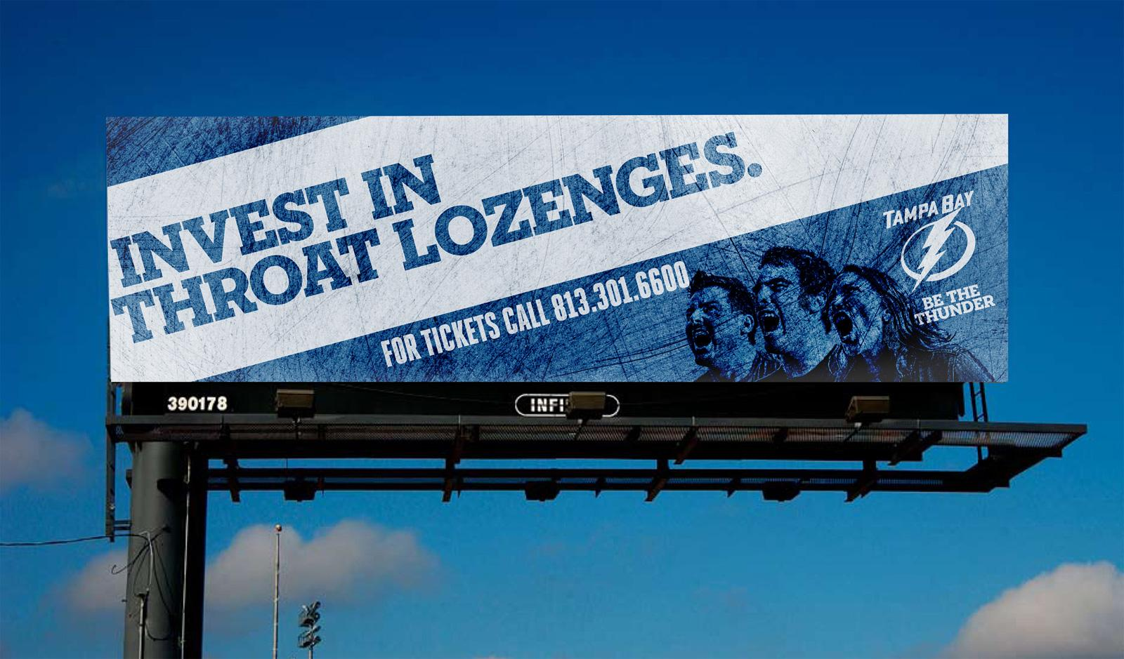 Tampa Bay Lightning Outdoor Ad -  Lozenges