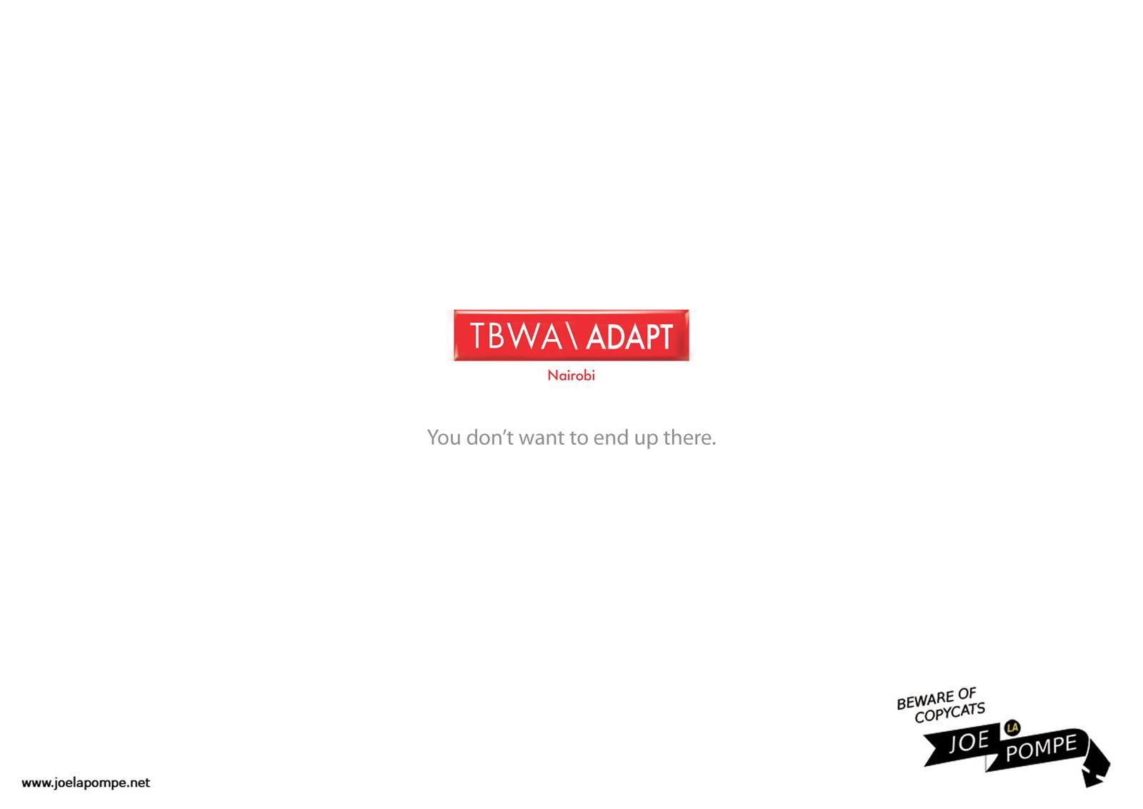 Joelapompe.net Print Ad -  TBWA
