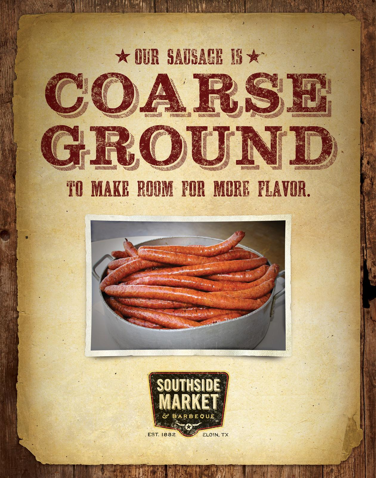 Southside Market & Barbeque Print Ad -  Coarse Ground