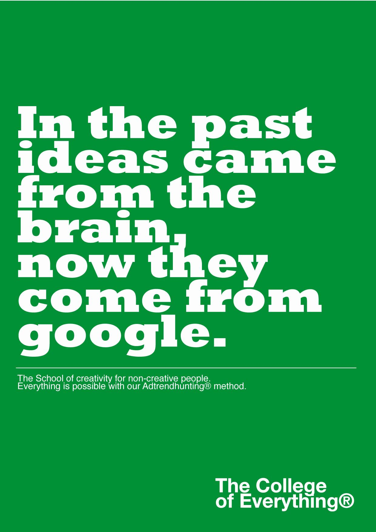 The College of Everything Print Ad -  Plagiarism, 3