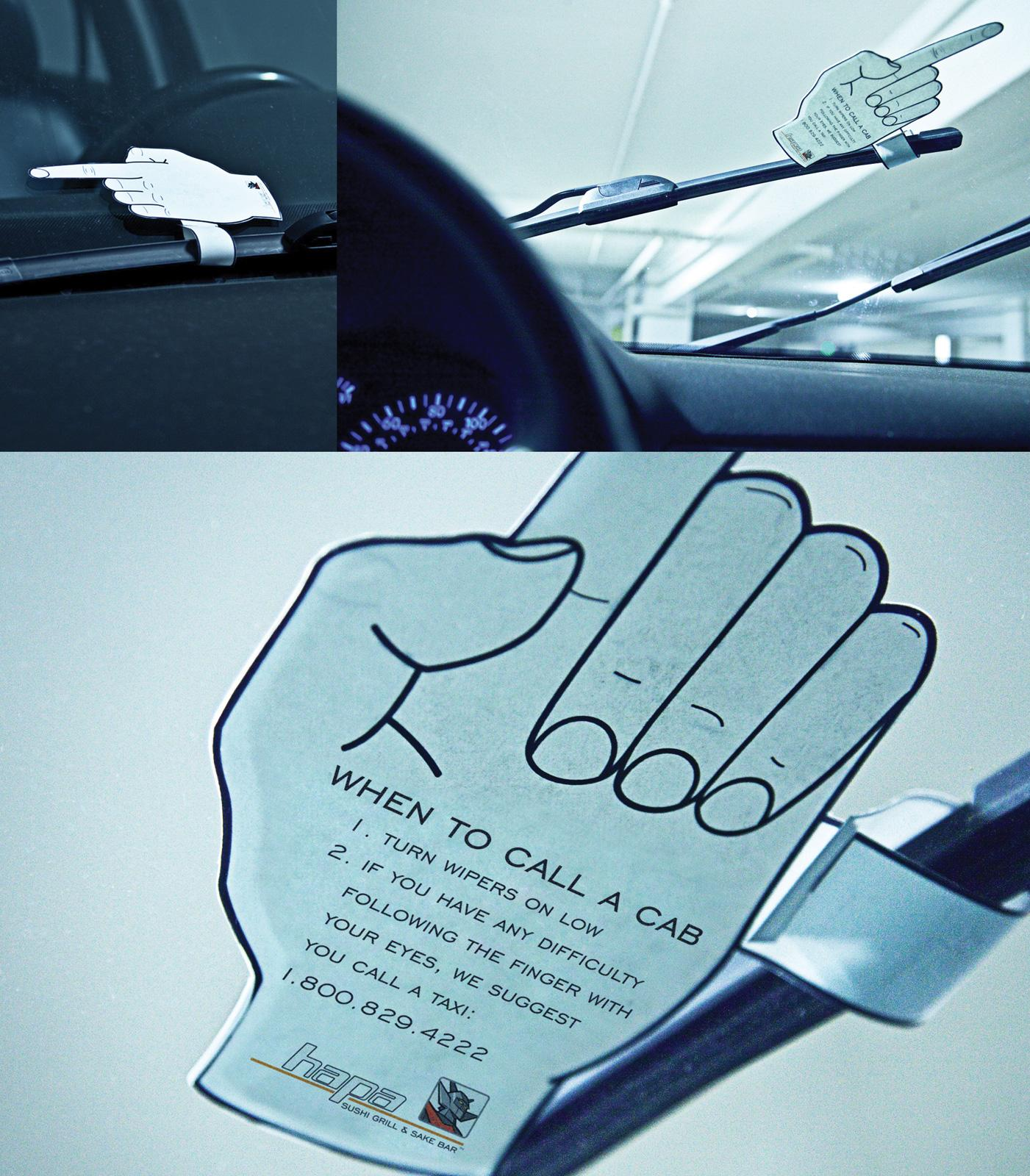 Hapa Sushi Ambient Ad -  Finger
