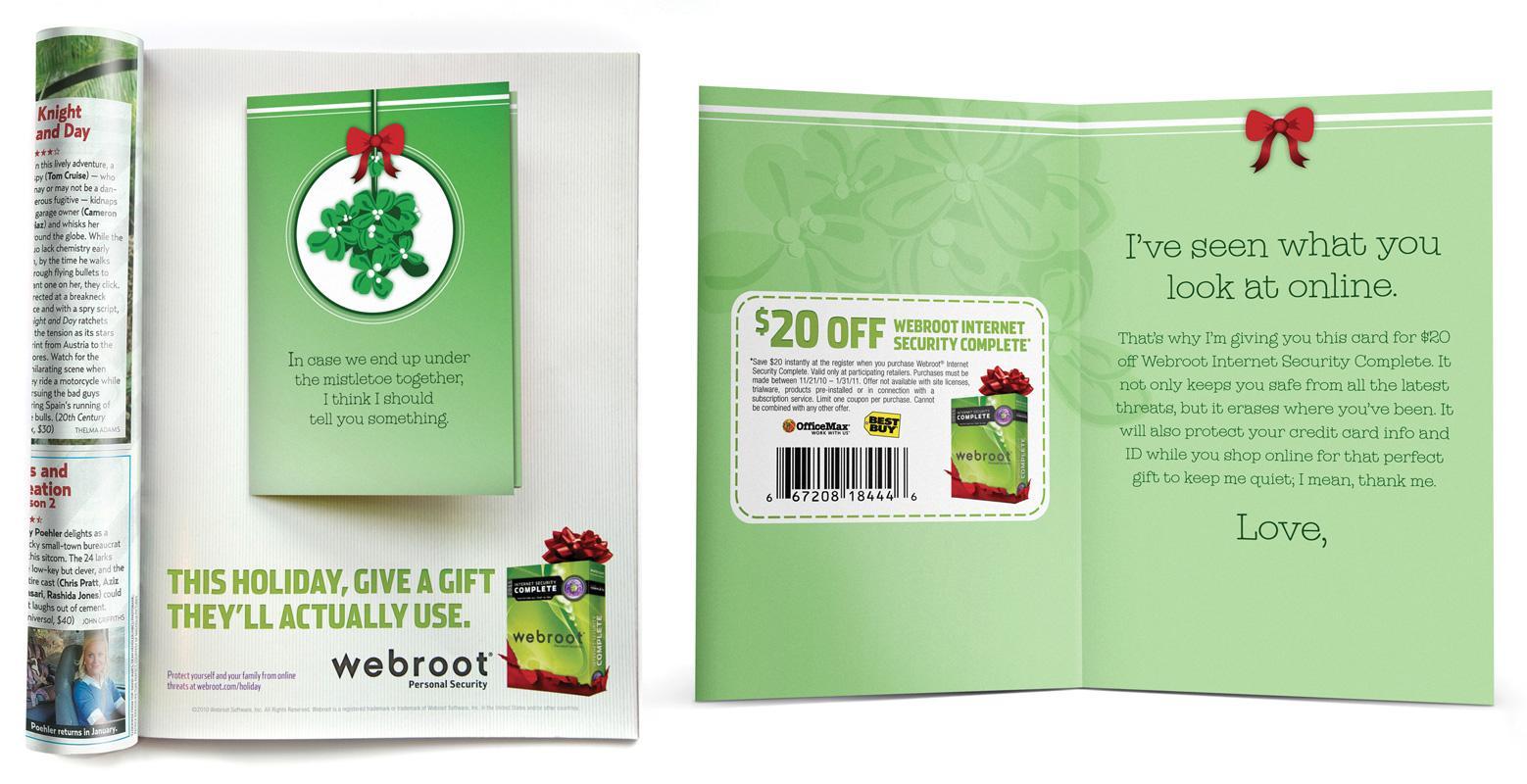 Webroot Print Ad -  Mistletoe