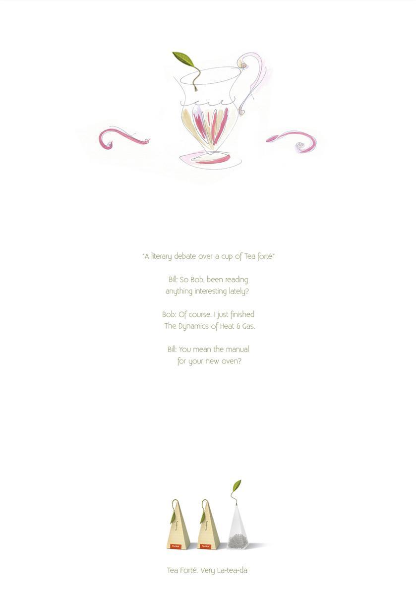 Tea forte Print Ad -  Oven manual