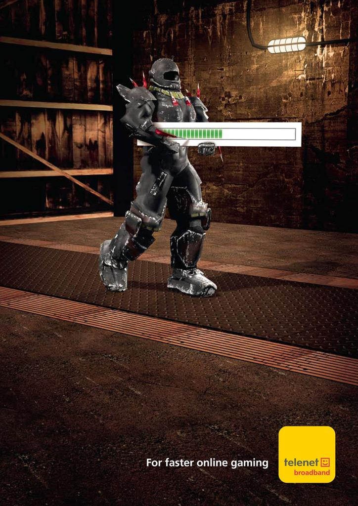 Telenet Print Ad -  Cyborg