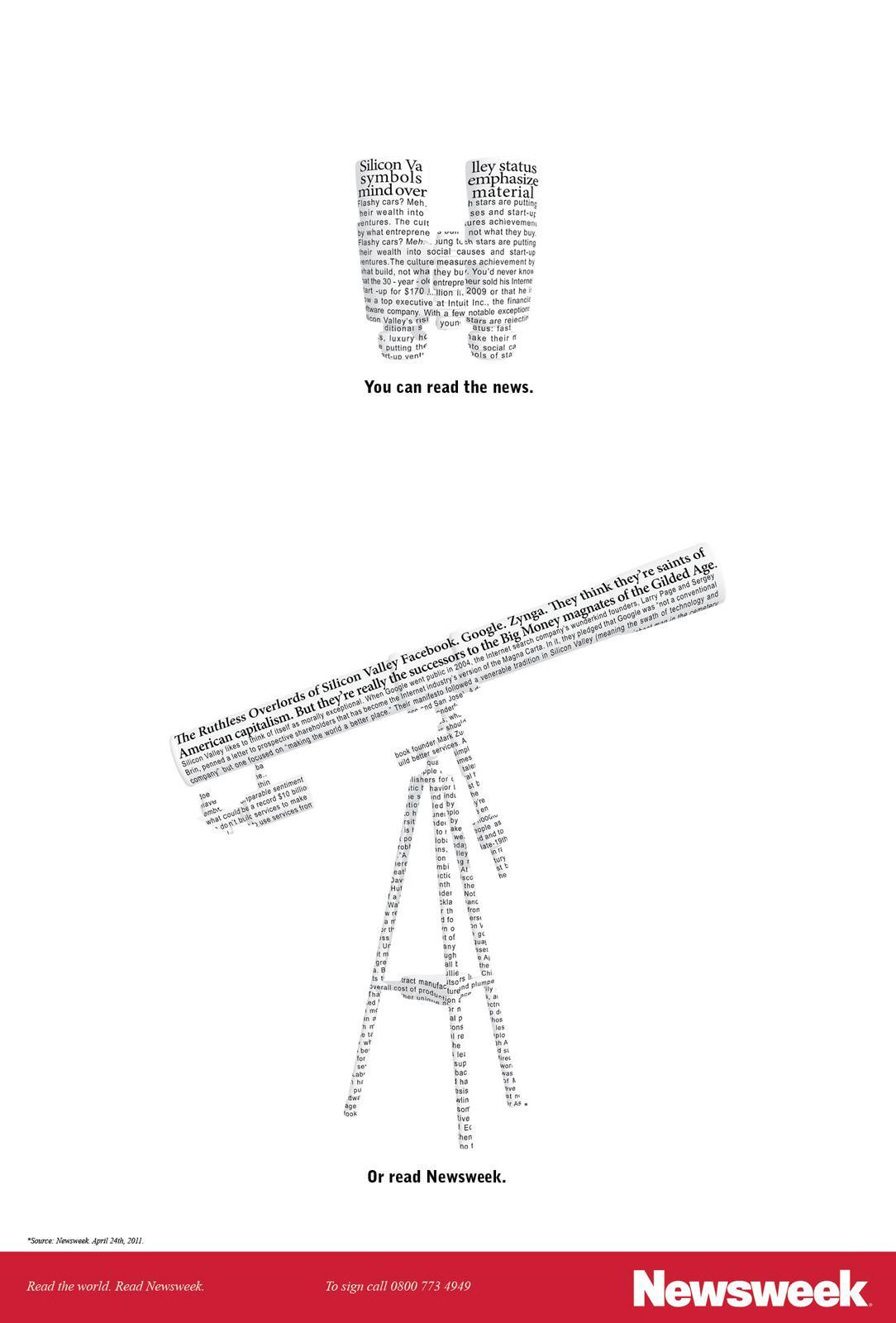 Newsweek Print Ad -  Telescope