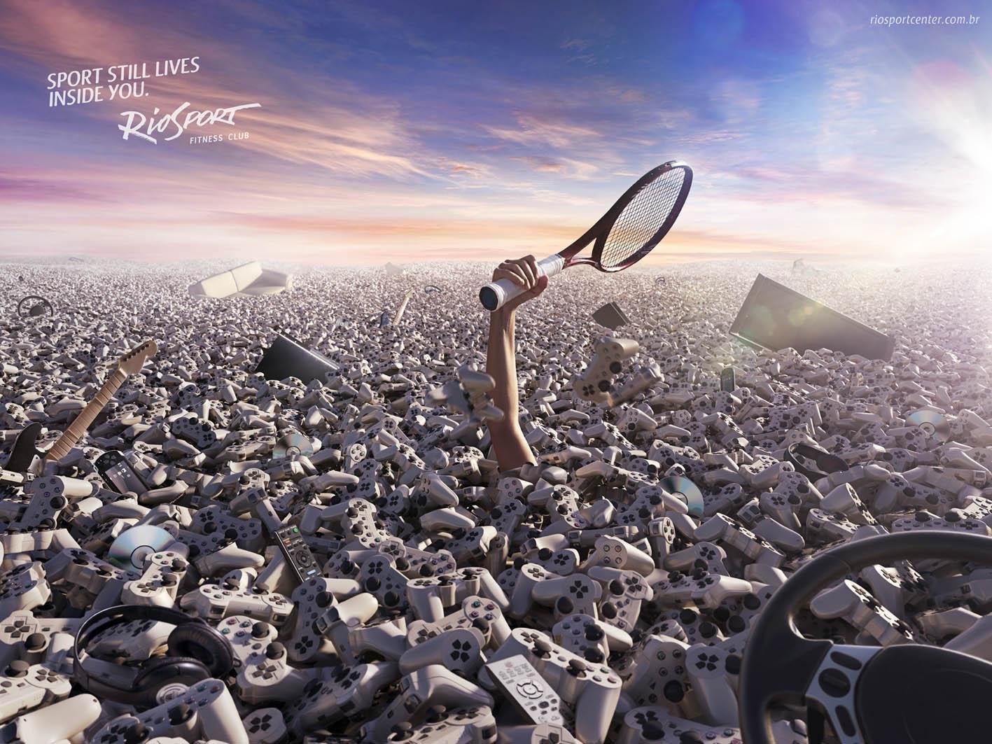 RioSport Print Ad -  Tennis