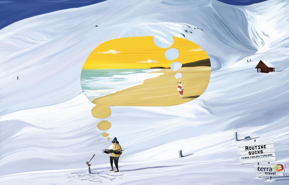 Terra Print Ad -  Routine sucks, Snow