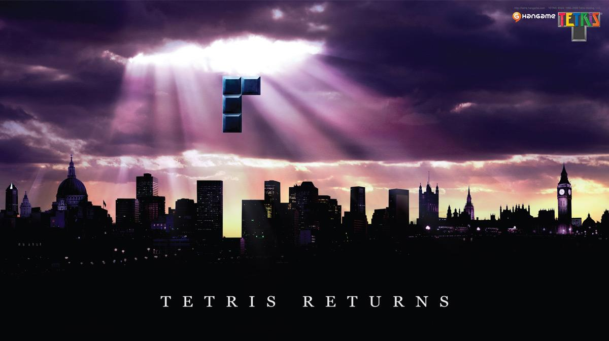 Hangame Tetris Print Ad -  London