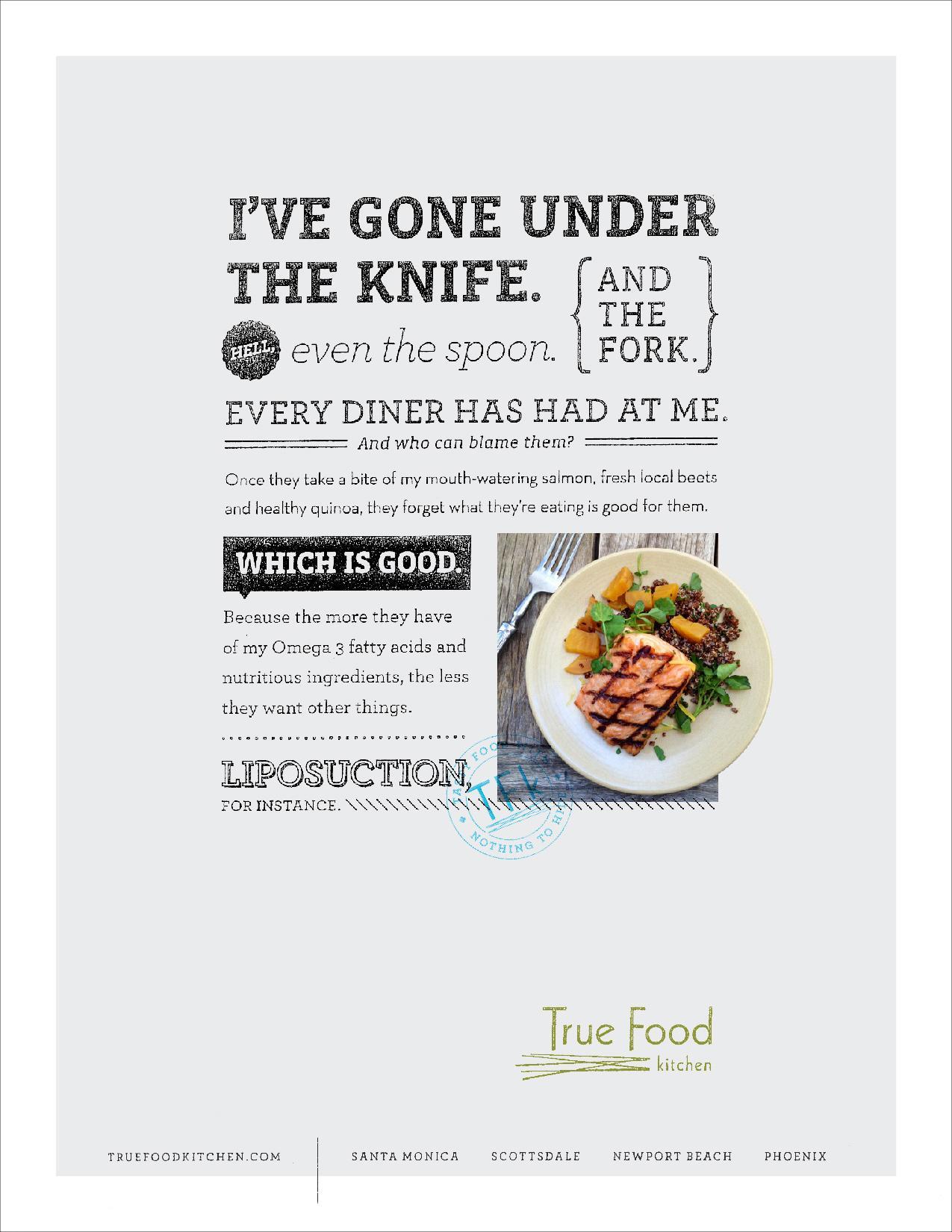True Food Kitchen Print Ad -  Salmon