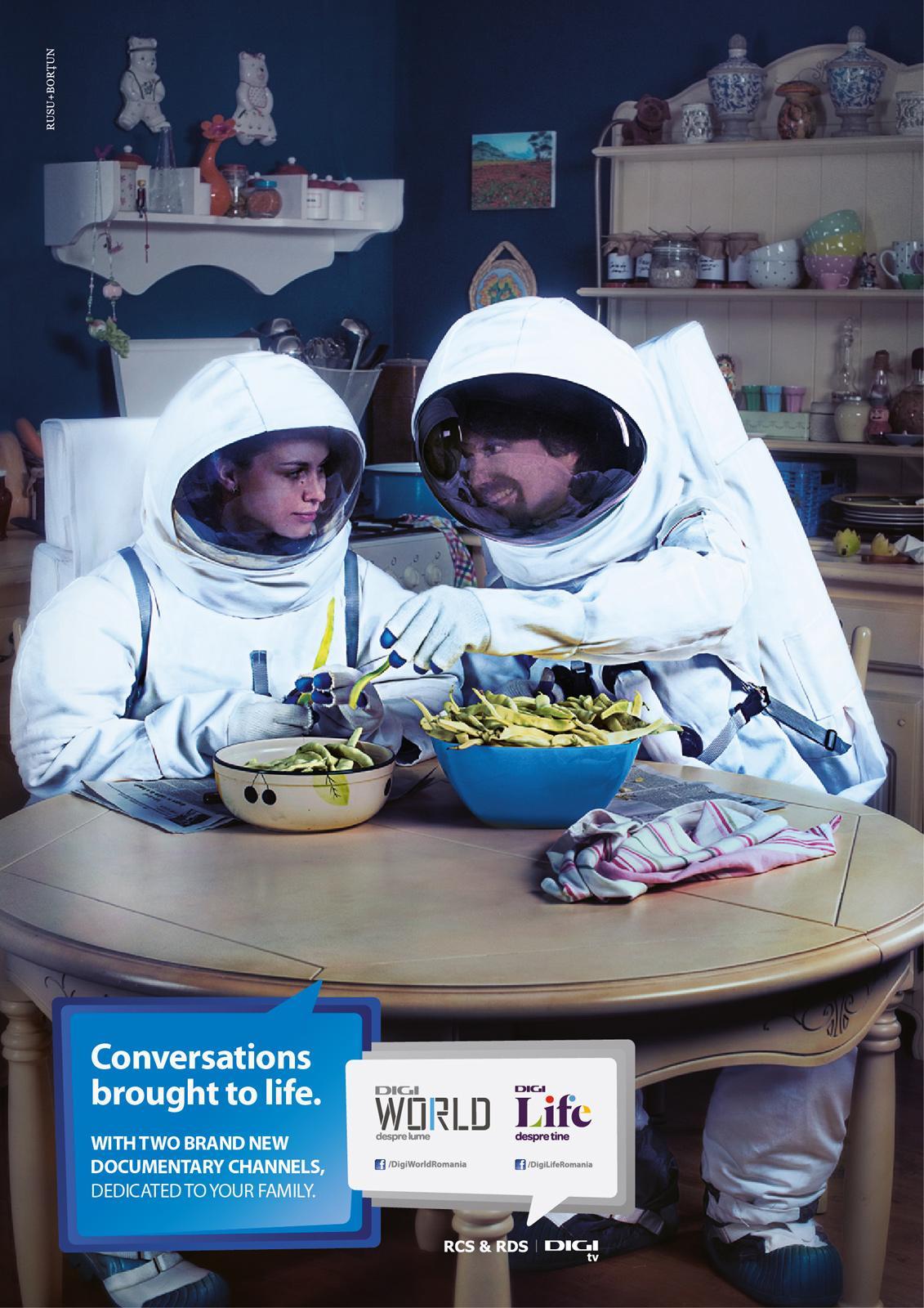 Digi TV Print Ad -  The Astronauts