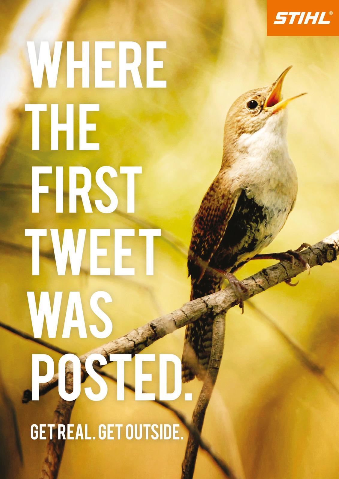 Stihl Print Ad -  The First Tweet