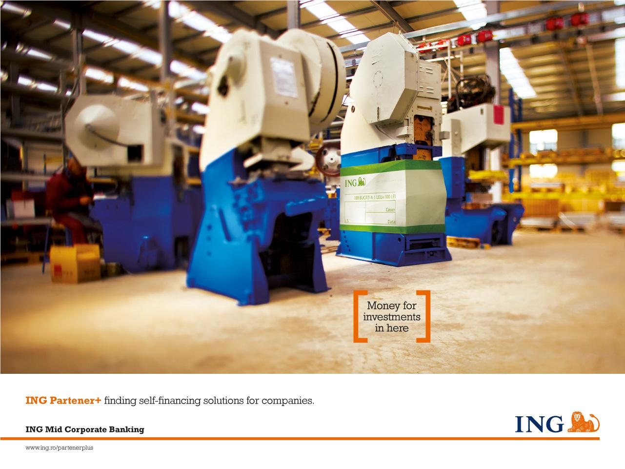ING Print Ad -  Machines
