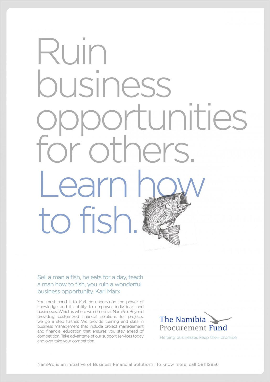 The Namibia Procurement Fund Print Ad -  Fish