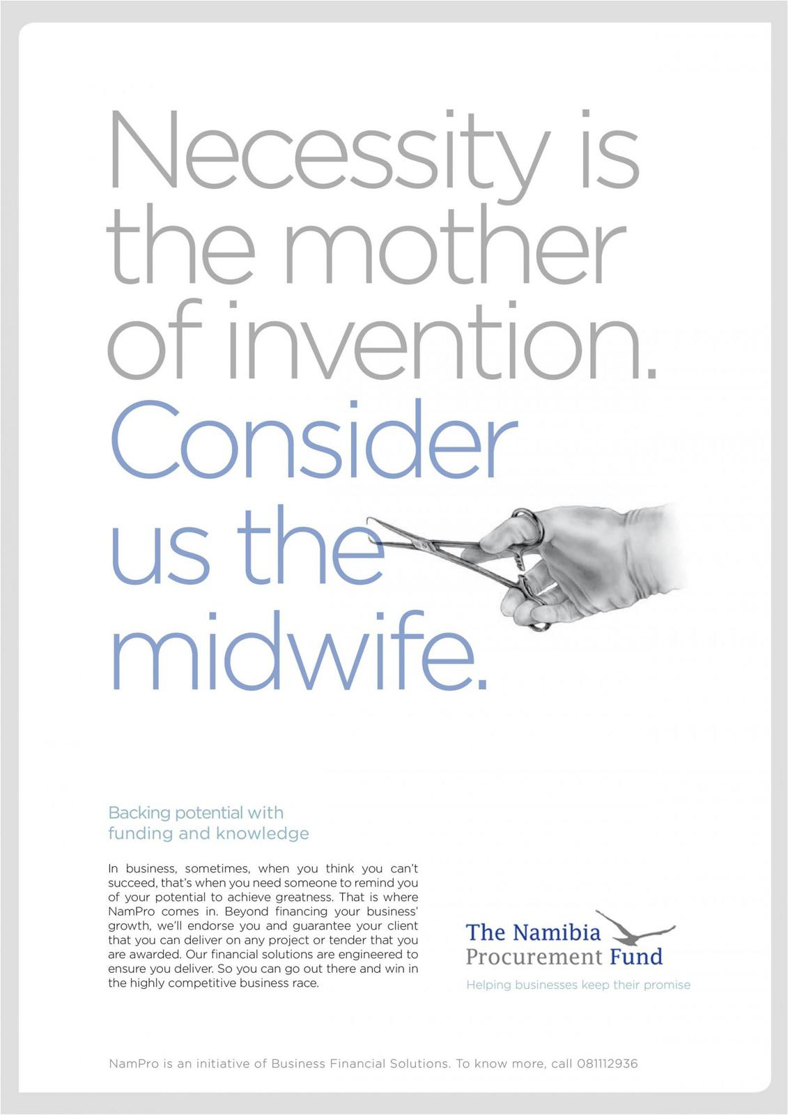 The Namibia Procurement Fund Print Ad -  Midwife