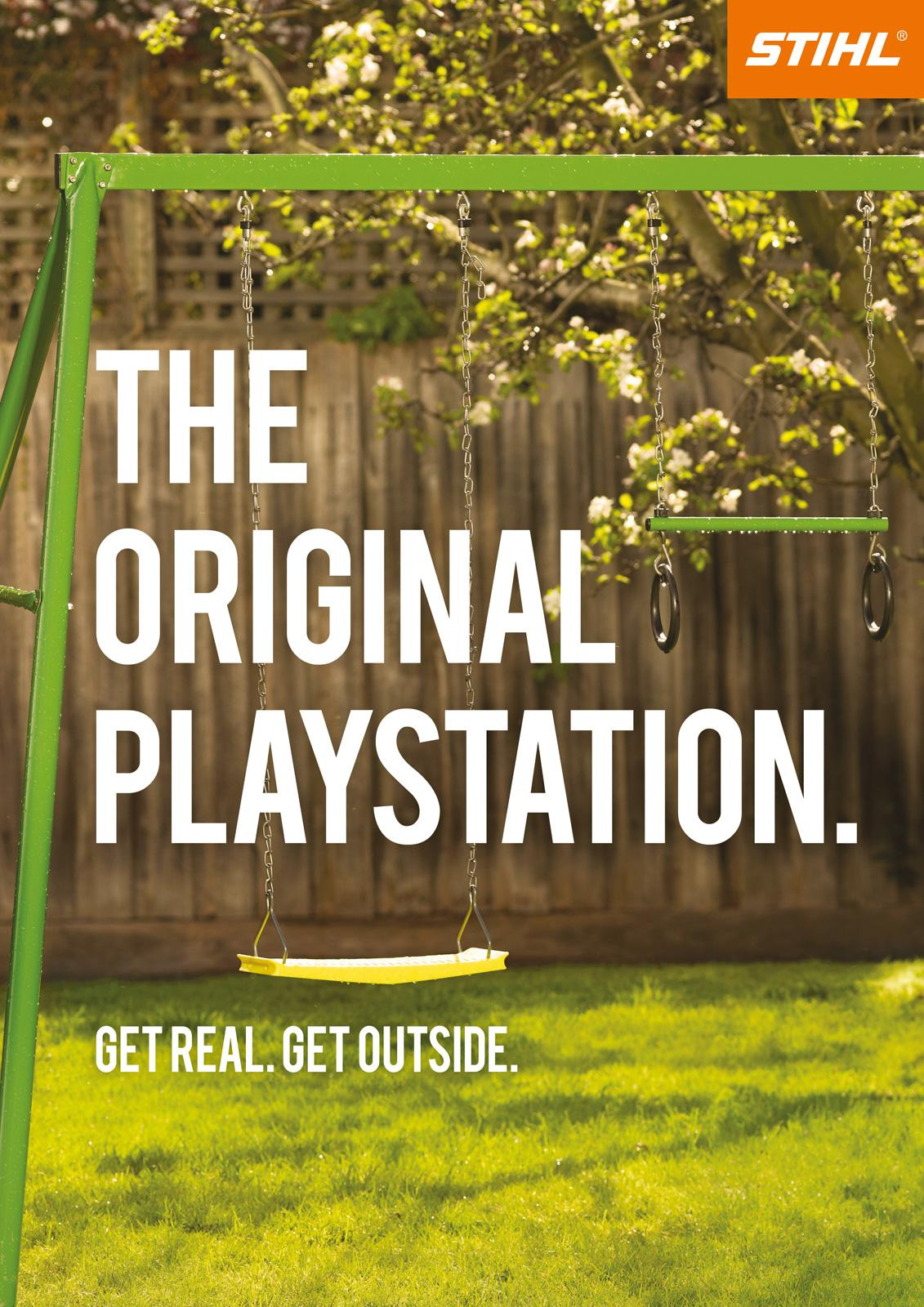 Stihl Print Ad -  The Original Playstation