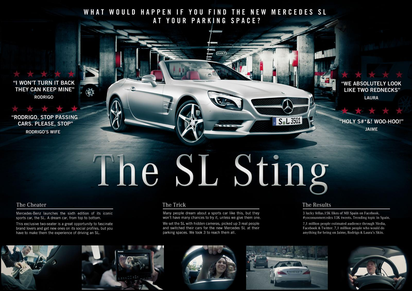 Mercedes Ambient Ad -  The SL Sting
