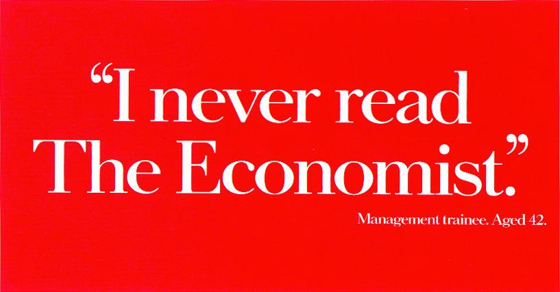 The Economist Print Ad -  Trainee