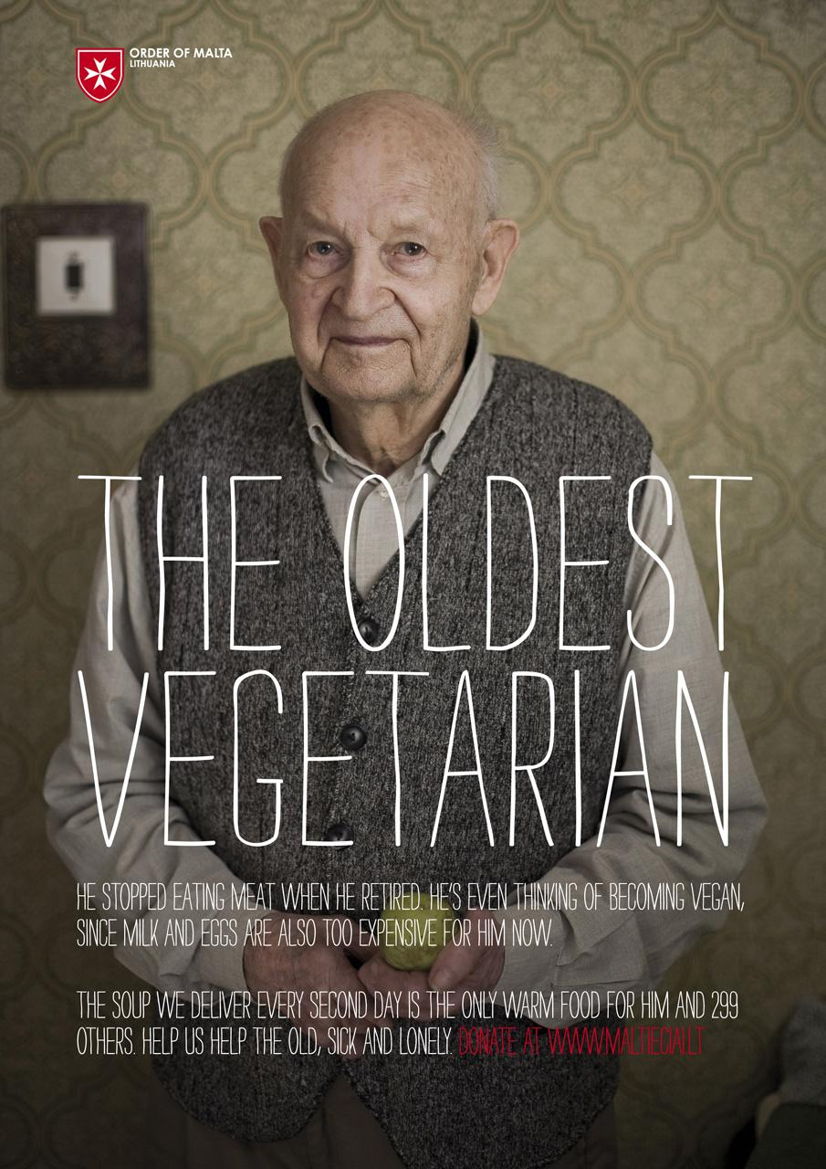 Order of Malta Outdoor Ad -  The Oldest Vegetarian