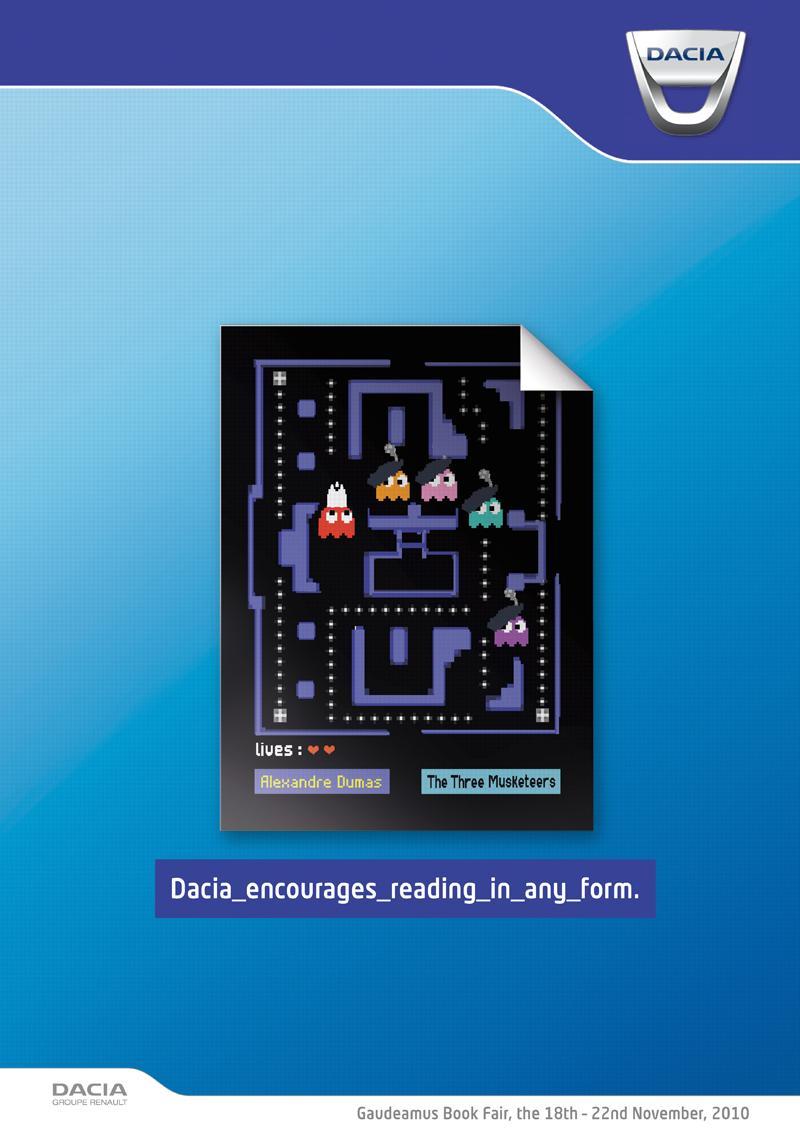Dacia Print Ad -  The Three Musketeers