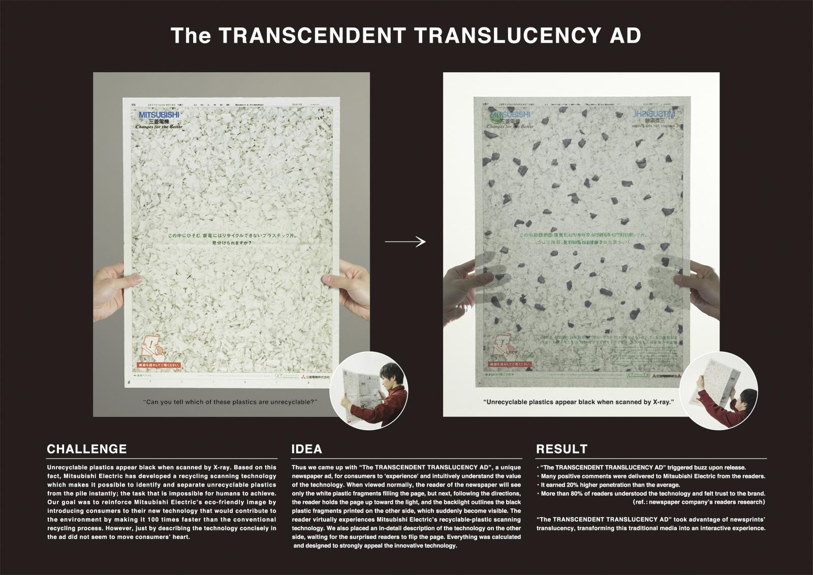 Mitsubishi Direct Ad -  The transcendent translucent ad