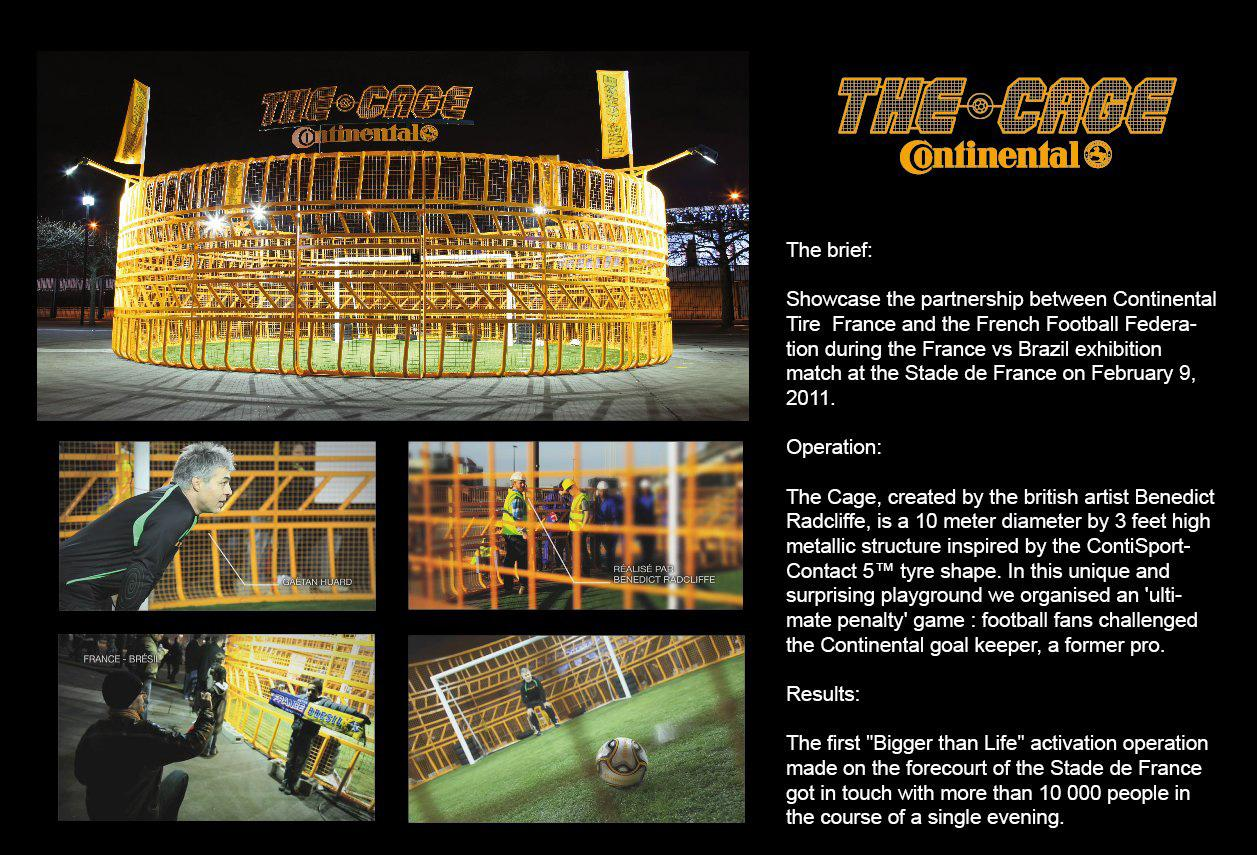 Continental Ambient Ad -  The cage