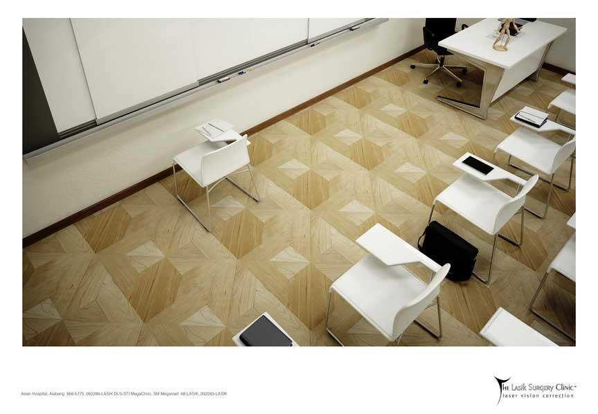The Lasik Surgery Clinic Print Ad -  Classroom