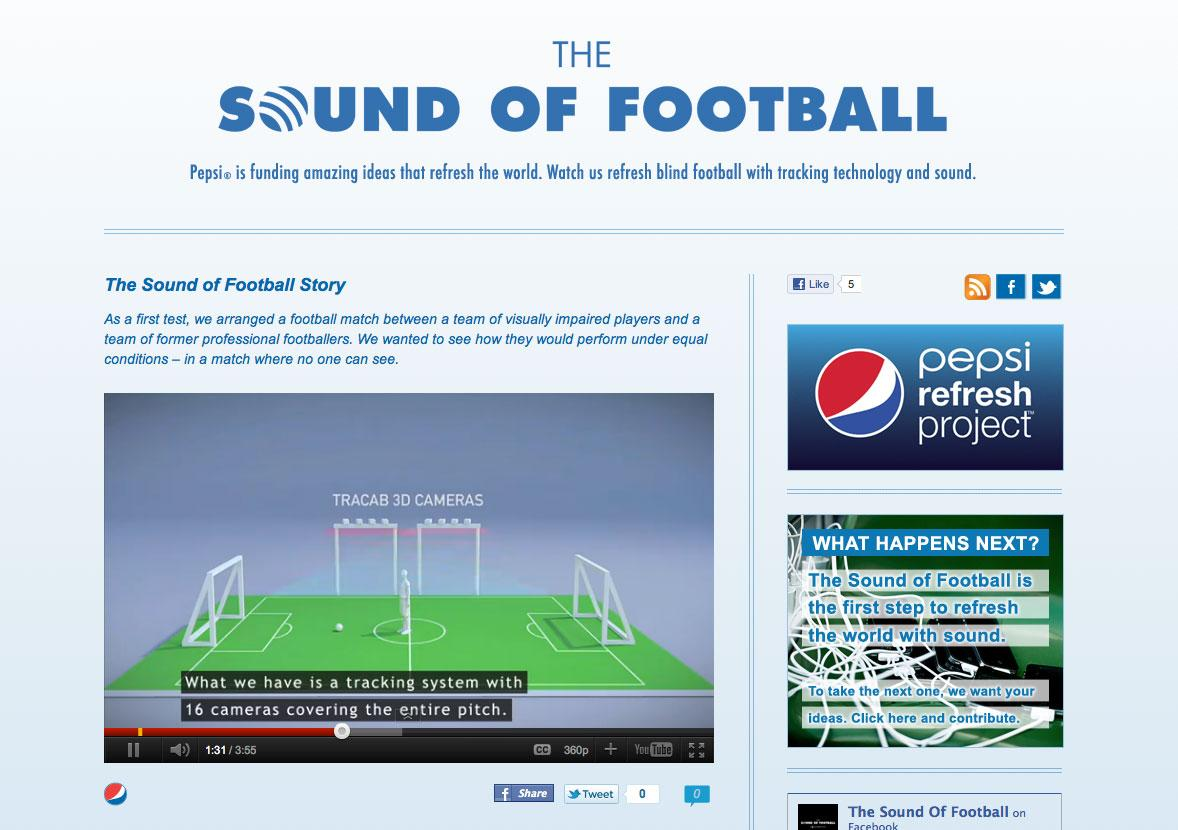 Pepsi Digital Ad -  The Sound Of Football