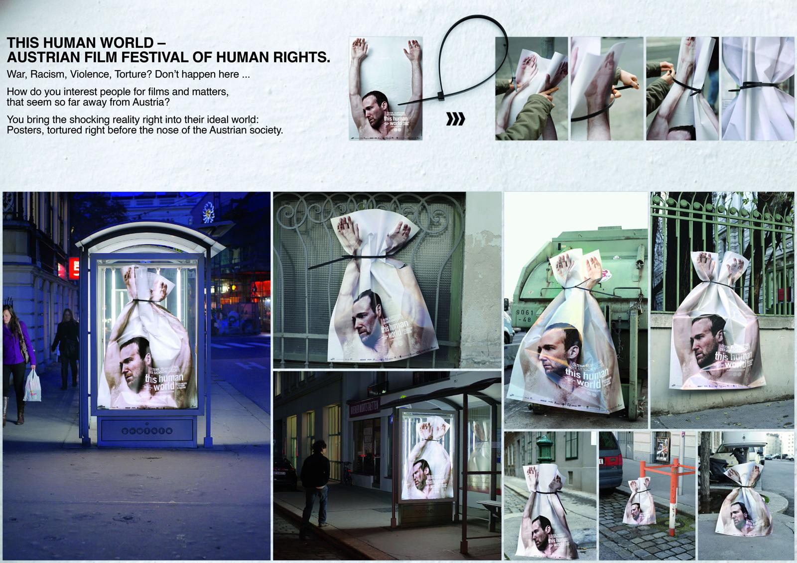 This Human World Ambient Ad -  Tied up