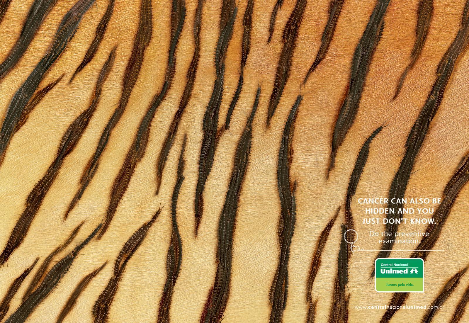 Central Nacional Unimed Print Ad -  Tiger