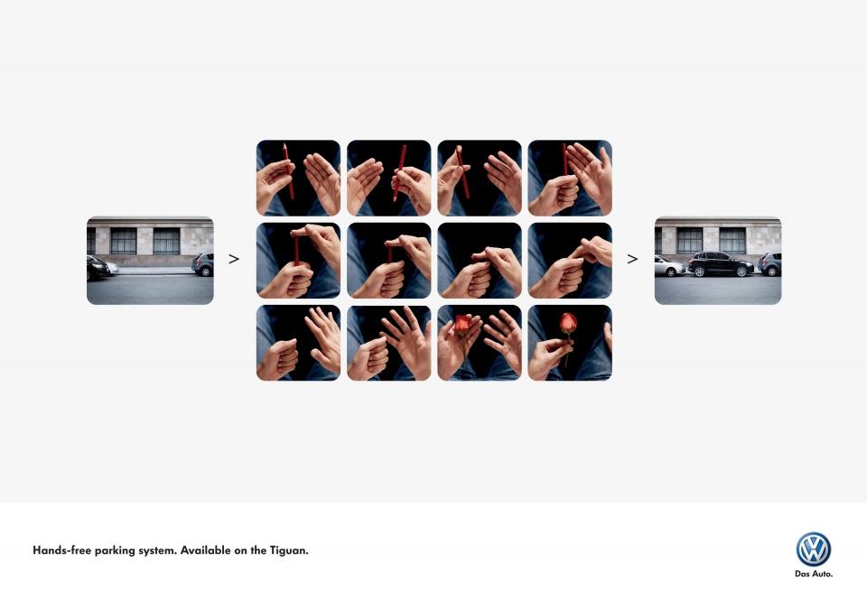 Volkswagen Print Ad -  Hands-free parking, 1