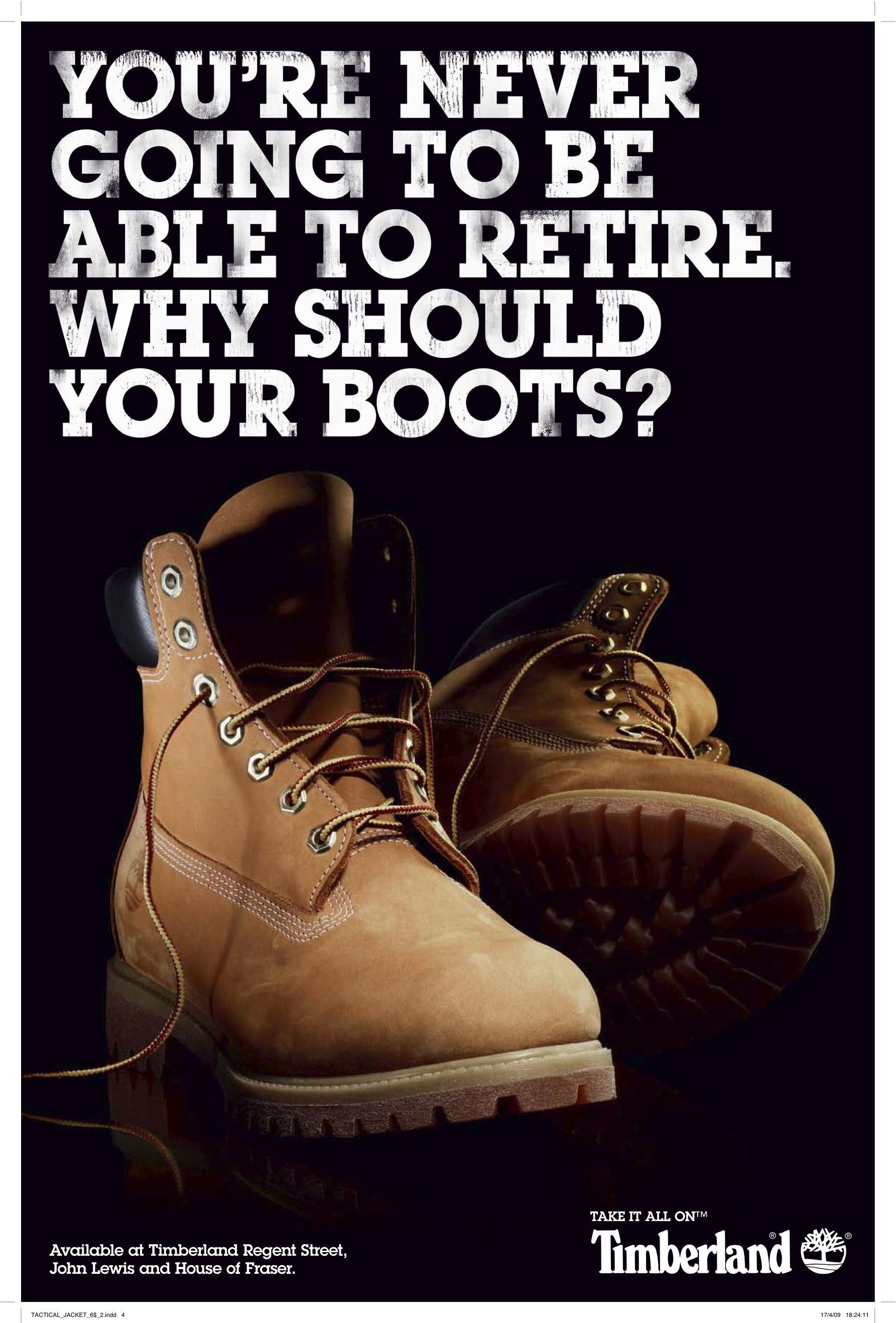 Timberland Print Ad -  Retire
