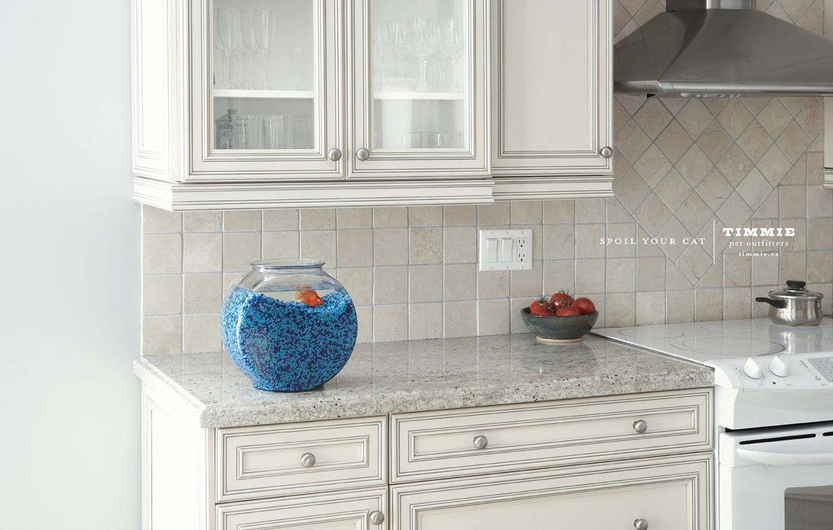 Timmie Print Ad -  Fish bowl